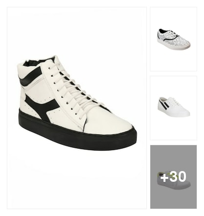 """Trend alert :- White sneakers !!""👇. Online shopping look by Kinki"