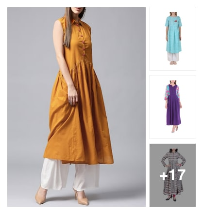Flared kurtas. Online shopping look by Ruchika