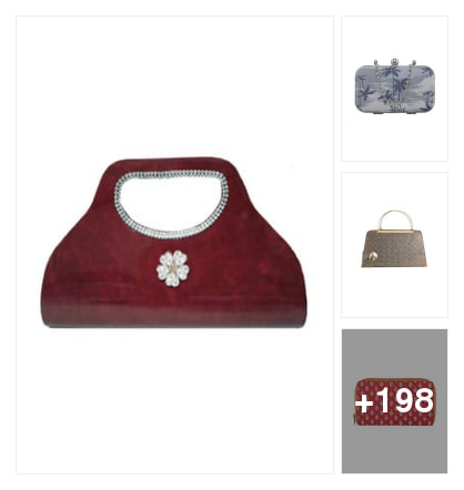 Letest looking clutches used this item for college girls. Online shopping look by chinni