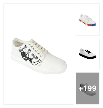 Sports shoes and sneakers. Online shopping look by chinni