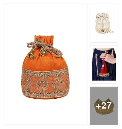 Amazing  potli  bags. Online shopping look by Reena