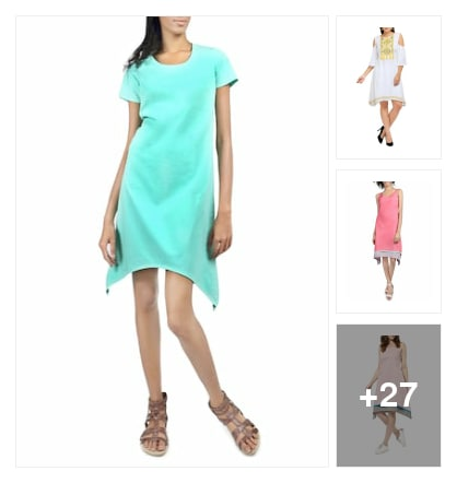 Assymetric dresses. Online shopping look by Ruchi
