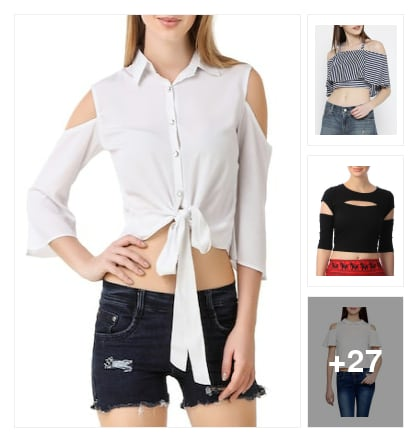 Crop tops. Online shopping look by Ruchi