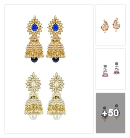 earrings for you. Online shopping look by sujatha