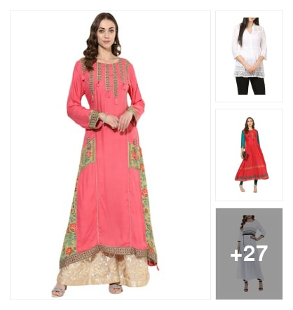Fabulous    Flared  Kurtas  for  Women. Online shopping look by krishna