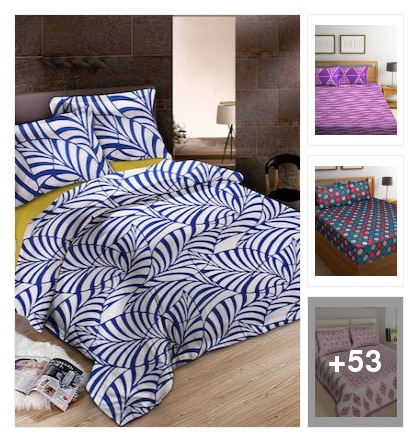 colourful bedsheets. Online shopping look by chandra