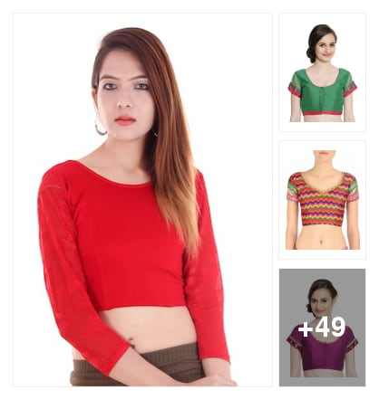 beautiful blouses collection. Online shopping look by jyothi