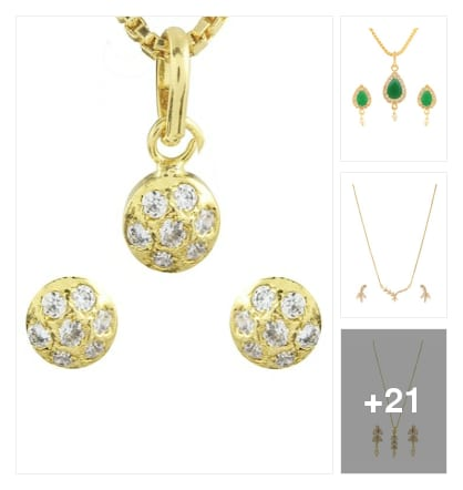 Gold plated pendents and sets . Online shopping look by keerthi