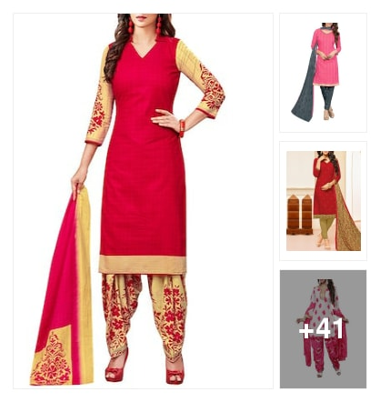 Unstitched suit collection. Online shopping look by Reena