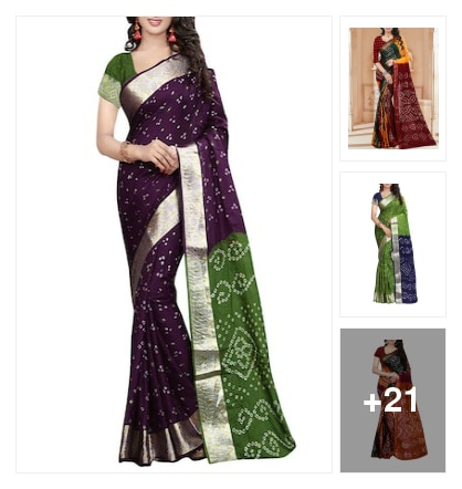 Beautiful bandhani type cotton sarees. Online shopping look by Dr.