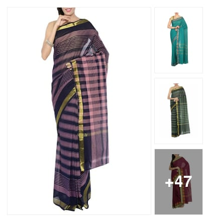 Chattinad cotton sarees. Online shopping look by Dr.