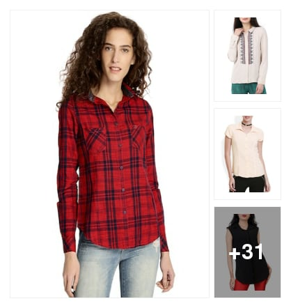 Fashion shirts for girls. Online shopping look by P