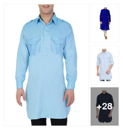 Kurtas for fashion men. Online shopping look by P