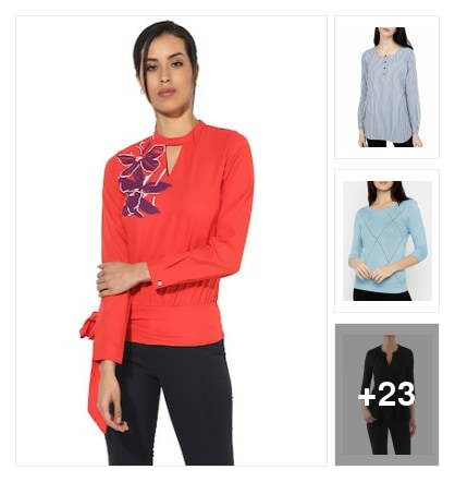Tops for ladies. Online shopping look by dare