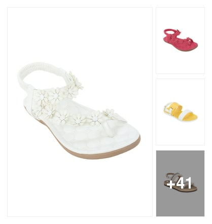 White beauty sandle . Online shopping look by konda