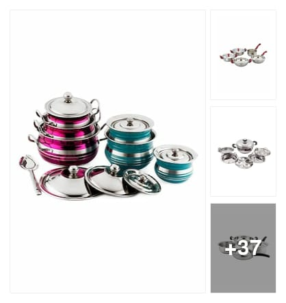 Trending Cookware sets. Online shopping look by Priyanka