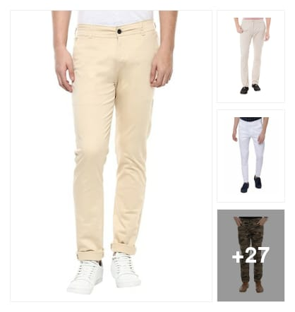 Casual Trousers for Men. Online shopping look by Priyanka