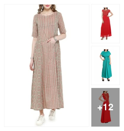 Maxi Dress. Online shopping look by kalpana