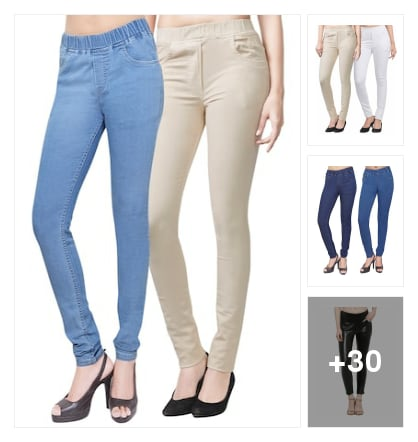 Jeans and jeggings for women. Online shopping look by Guru