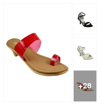 Beautiful sandals for women. Online shopping look by ramakrishna