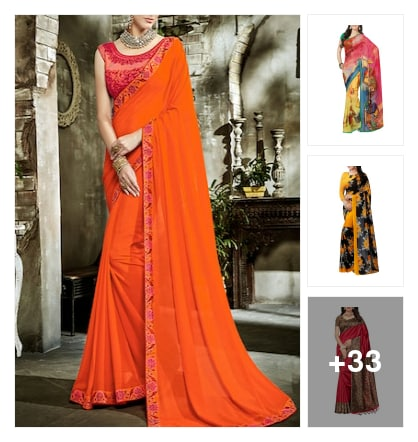 Nice sarees collection. Online shopping look by Guru