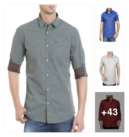 lovely shirts for men. Online shopping look by viadya