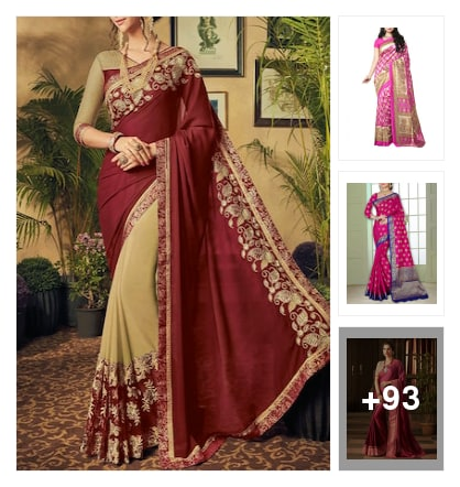 Sarees trending now. Online shopping look by jinglejingle