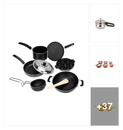 cook ware. Online shopping look by mahesh