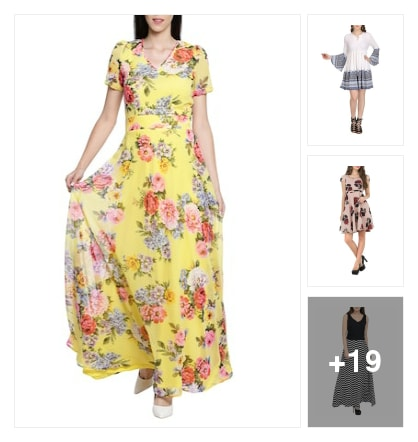 Wonderful dresses for ladies. Online shopping look by SHYAMALA