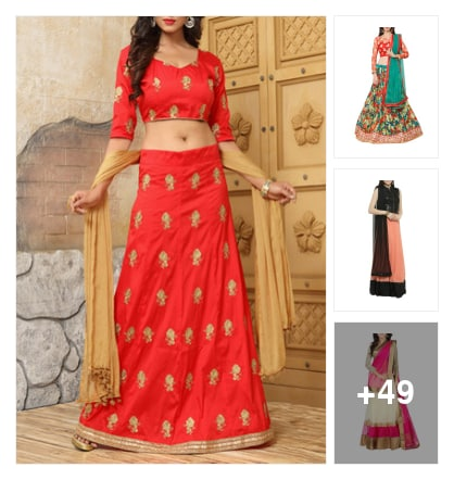 Lehengas look ultimately . Online shopping look by Alapati