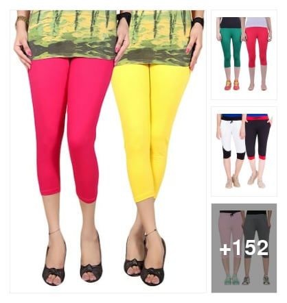Capris and leggings  (set of 2). Online shopping look by 💚❤Padmini❤💚