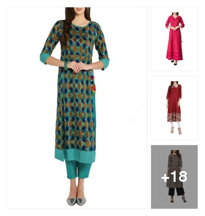 Kurtas. Online shopping look by vijaya