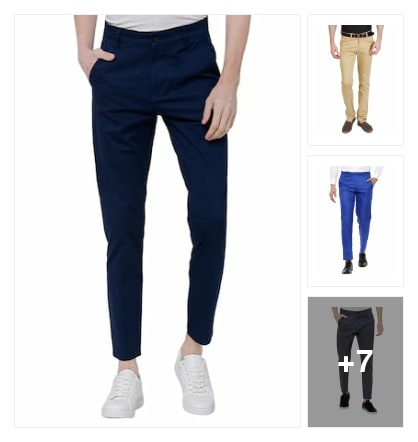 Casual trousers for men. Online shopping look by vyshu