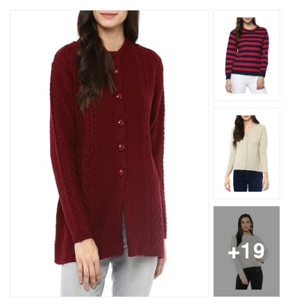 Cardigans and pullovers . Online shopping look by keerthi