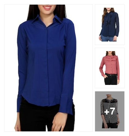Shirts for ladies. Online shopping look by venkat