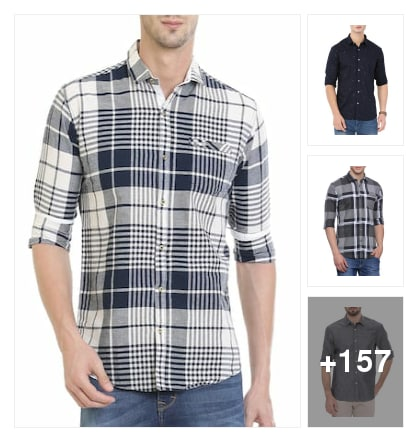 Casual shirts for men. Online shopping look by ashok