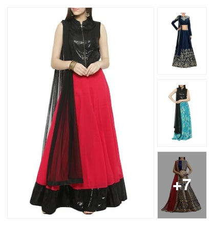 Lehenga for functions. Online shopping look by venkat