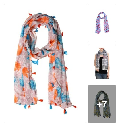 Scarf for ladies. Online shopping look by venkat