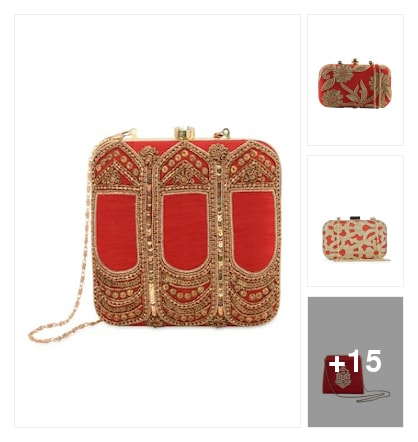 Clutch for wedding. Online shopping look by kavita