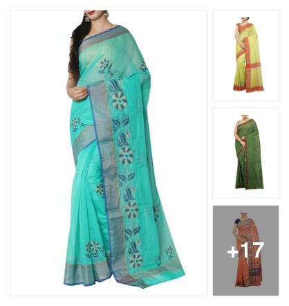 Wonderful sarees for ladies. Online shopping look by SHYAMALA