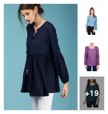 Ruffle tops. Online shopping look by kavita