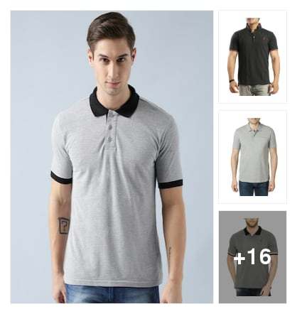 "Men's Trendy Collar T-Shirt . Online shopping look by Trends update by ""Sheetal Thakur"""
