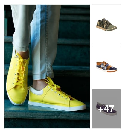 Colourful sneakers for men. Online shopping look by Jemma