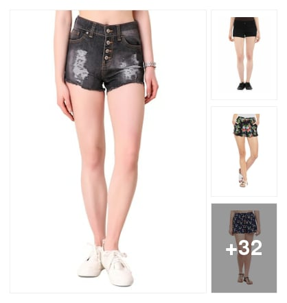 Favourite pick :- shorts. Online shopping look by Kinki