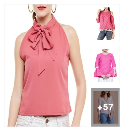 All 'Pink' Girly Top. Online shopping look by Seema