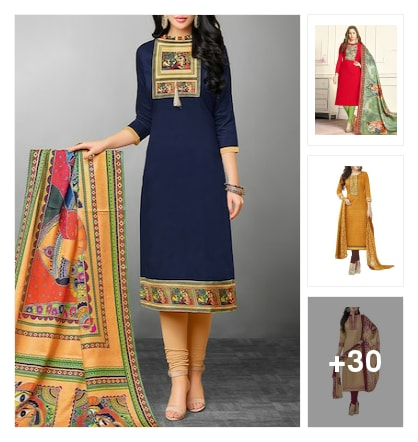 Gorgeous Churidar Suits. Online shopping look by Jayasmita