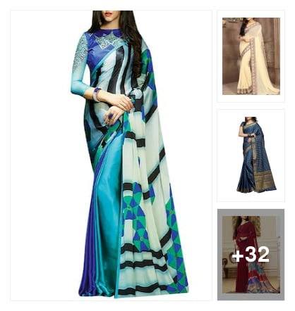 saree. Online shopping look by shivam tiwari