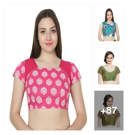 Perfect matching blouses. Online shopping look by sree
