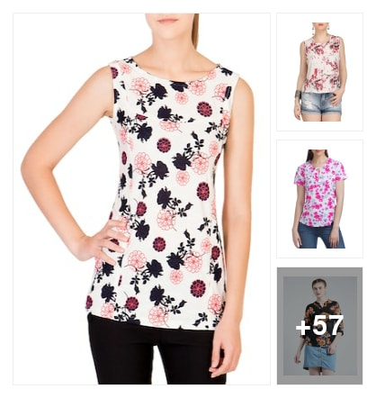 Style with Floral tops. Online shopping look by Tiny