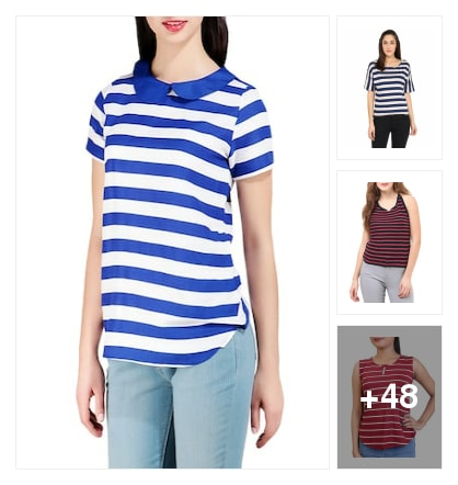 Lovely strips design in tops. Online shopping look by Tiny